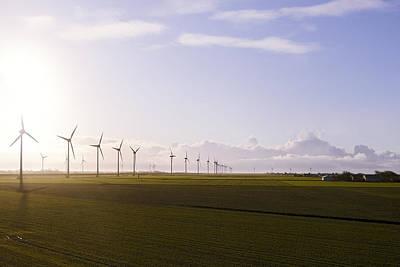 Windturbines At German Coast Art Print by Axel Schmies