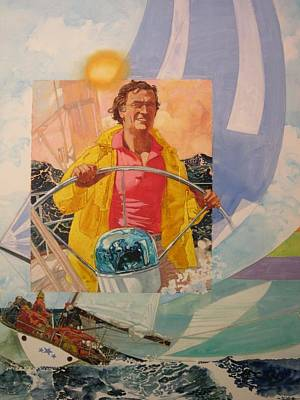 Scow Painting - Windward. Sailor's Pleasure by Chuck Hamrick