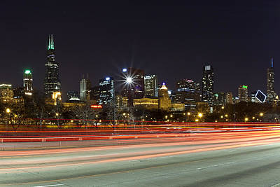 Cj Schmit Royalty-Free and Rights-Managed Images - Windy City Fast Lane by CJ Schmit