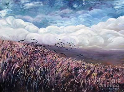 Windy Day Art Print by Caroline Street