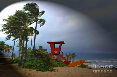 Haleiwa Photograph - Windy Day In Haleiwa by Mark Gilman