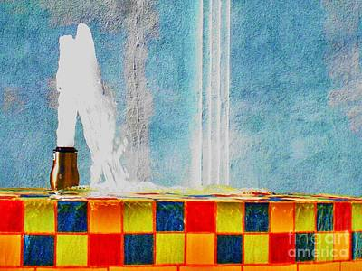 Windy Fountain  Art Print by John King