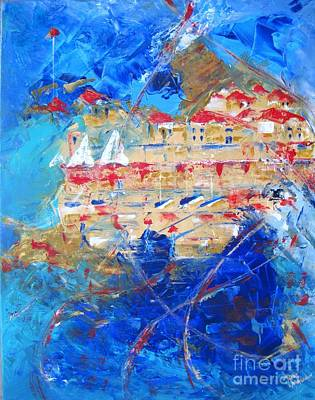 Wall Art - Painting - Windy Reflection by Mona Mansour Jandali