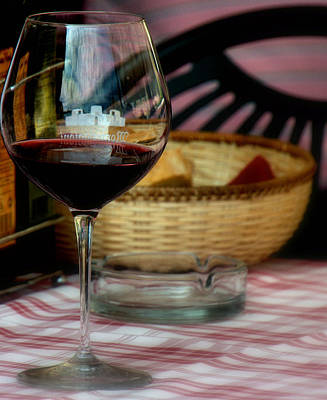 Photograph - Wine And Bread by Caroline Stella