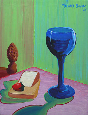 Wine And Cheese Art Print by Michael Baum