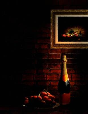 Of Liquor Photograph - Wine And Grape by Lourry Legarde