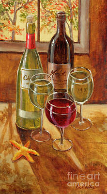 Painting - Wine And Starfish by Vic  Mastis