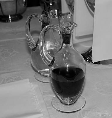 Photograph - Wine And Water In Black And White by Rob Hans