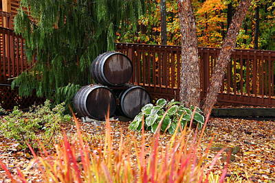 Photograph - Wine Barrels by Kevin Schrader
