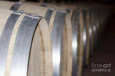 Wine Barrels Art Print by Mats Silvan