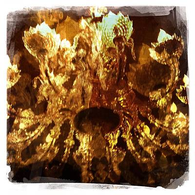 Wine Gift Painting - Wine Cave Chandelier I by Penelope Moore