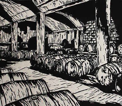 Wine Cellar Art Print by William Cauthern