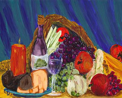 Gail Daley Wall Art - Painting - Wine Cornucopia by Gail Daley