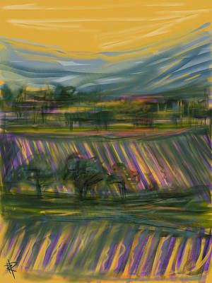 Vino Mixed Media - Wine Country by Russell Pierce