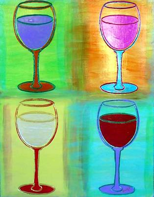 Wine Painting - Wine Glasses II by Char Swift