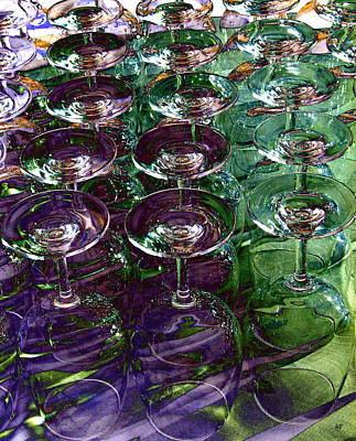 Wine Goblets Art Print by Will Borden