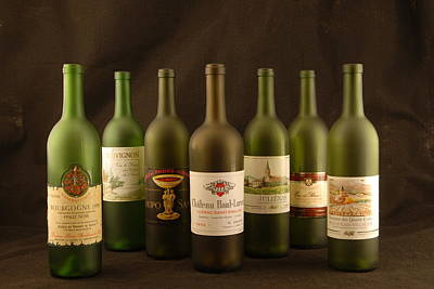 Photograph - Wine Labels French by David Campione