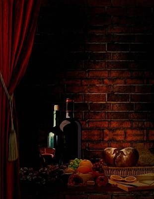 Baskets Digital Art - Wine Lifestyle by Lourry Legarde