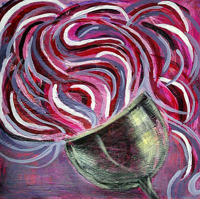 Wine Swirl Art Print by Janice Gelona