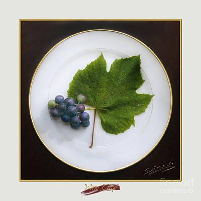 Purple Grapes Digital Art - Wine Time by Arte Dika By Jose Sanchez Martinez