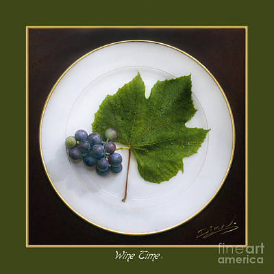 Purple Grapes Digital Art - Wine Time II by Arte Dika By Jose Sanchez Martinez