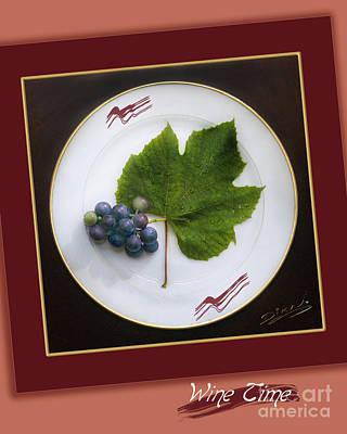 Purple Grapes Digital Art - Wine Time Iv by Arte Dika By Jose Sanchez Martinez