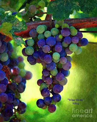 Wine To Be - Art Art Print by Patrick Witz