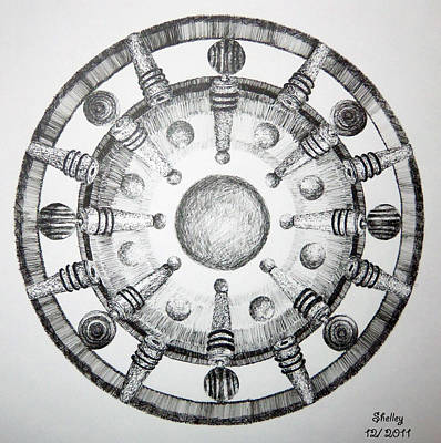 Drawing - Wine Topper Mandala by Shelley Bain