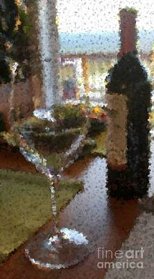 Photograph - Wine With A View by Terri Thompson