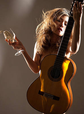 Bacchus Photograph - Wine Women And Song by Dario Infini