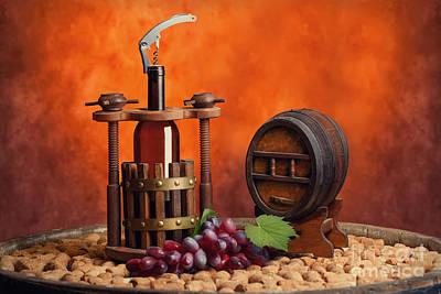 Winepress Photograph - Winepress And Winemake by Baranov Viacheslav