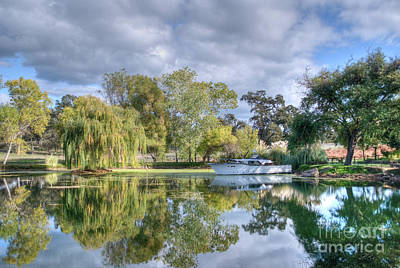 Amador County Photograph - Winery Pond by Diego Re