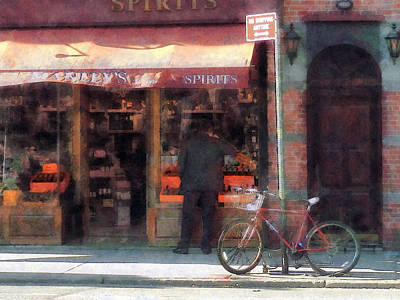 Photograph - Wines And Spirits Greenwich Village by Susan Savad