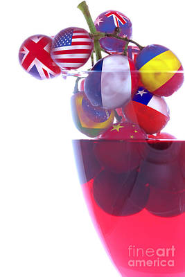 Vino Photograph - Wines From All Countries by Simon Bratt Photography LRPS