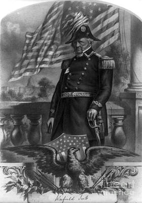 Winfield Scott, American Army General Print by Photo Researchers