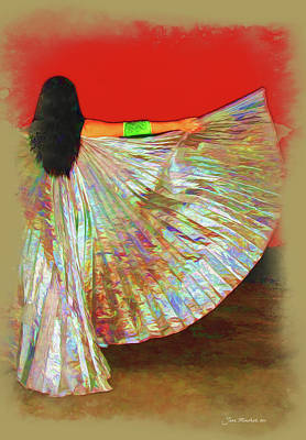 Photograph - Winged Dancer by Joan  Minchak