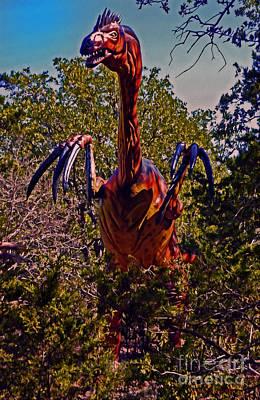 Mixed Media - Winged Dinosaur by Jerry L Barrett