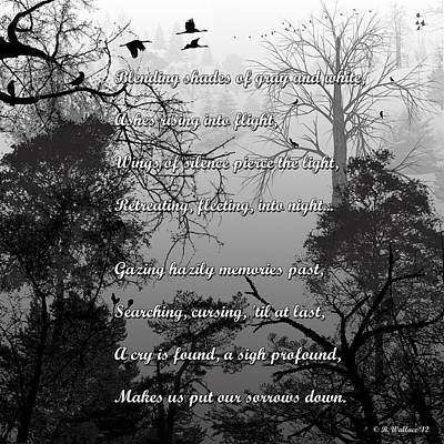 Prose Digital Art - Wings Of Silence by Brian Wallace