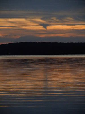 Photograph - Winnipesaukee Sunset One by Nancy Griswold