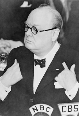 Winston Churchill 1874-1965 Art Print by Everett