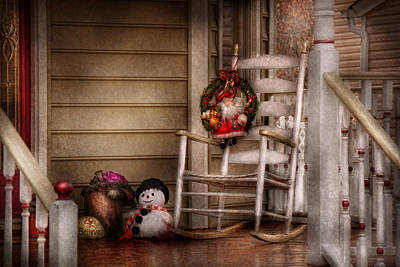Photograph - Winter - Metuchen Nj - Waiting For Santa  by Mike Savad