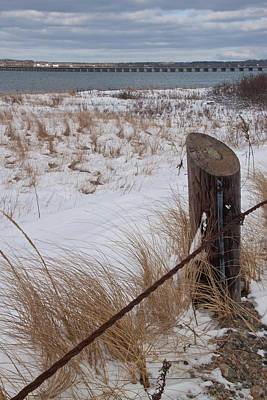 Photograph - Winter At Duxbury Beach by Susan OBrien
