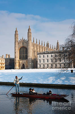 Cambridge Photograph - Winter At Kings by Andrew  Michael