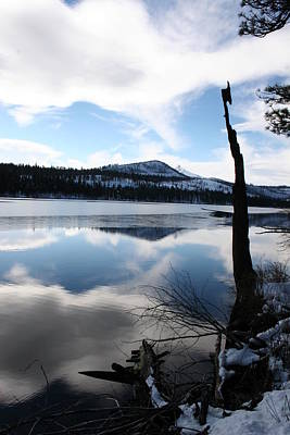 Winter At The Lake Art Print by Ken Riddle