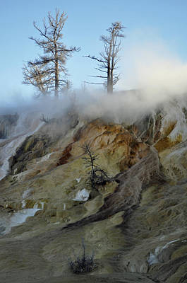 Winter At Yellowstone's Mammoth Terrace Art Print
