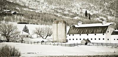 Barn Photograph - Winter Barn 3 by Marilyn Hunt