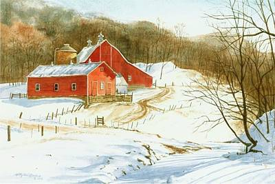 Painting - Winter Barns by Phyllis Martino