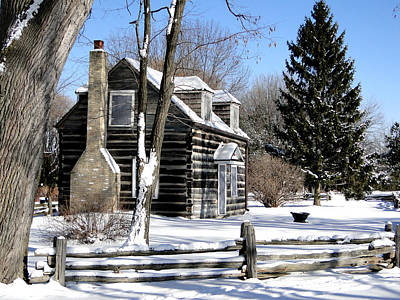 Mixed Media - Winter Cabin 1 by Bruce Ritchie