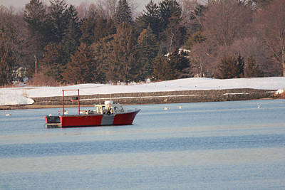 Photograph - Winter Clamming by Mary Haber