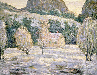 Mountain Snow Landscape Painting - Winter by Ernest Lawson
